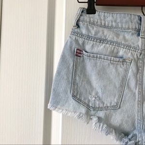 BDG Shorts - BDG UO Super High Rise Cheeky Distressed Shorts 25